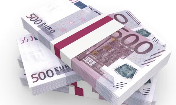 Espanya compta amb el 14% de tots els bitllets de 500 Euros que es mouen a la zona euro.