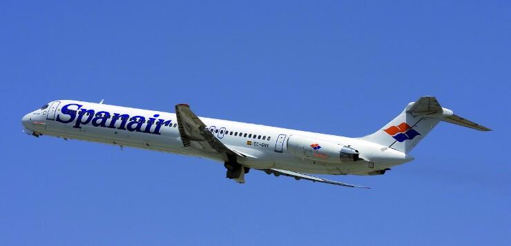 Avió Spanair volant