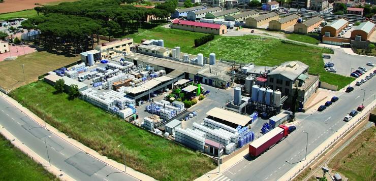 Vista aérea de la planta de Derypol