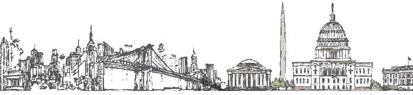 Skyline NY i Washington