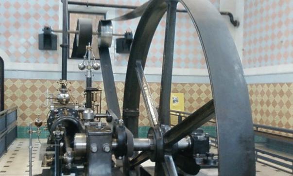 Màquina de vapor a taller tèxtil