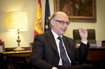 Entrevista a Cristóbal Montoro Ministre d'Hisenda i Administracions Públiques