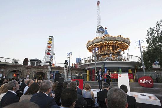 Cerimònia d'entrega del Premi Jove Empresari 2014, al Parc d'Atraccions Tibidabo.