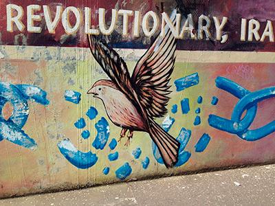 Mural representant al grup paramilitar dels catòlics, l'IRA.