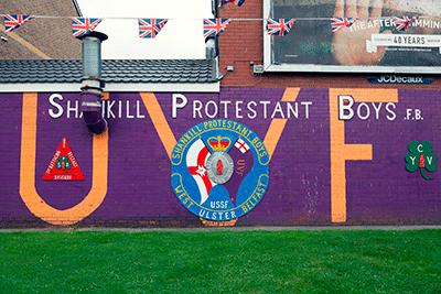 Mural del Unionistes, protestants, a Belfast.